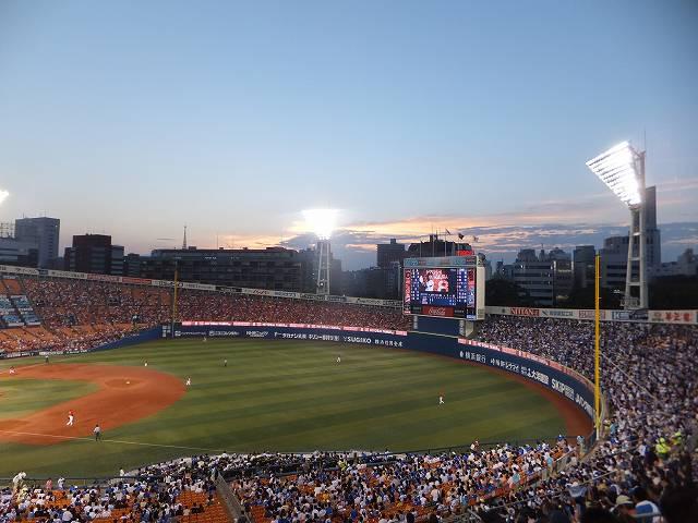 横浜スタジアム:内野指摘席Bからの眺め