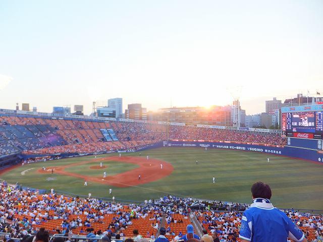 横浜スタジアム:内野指定席Bからの眺め