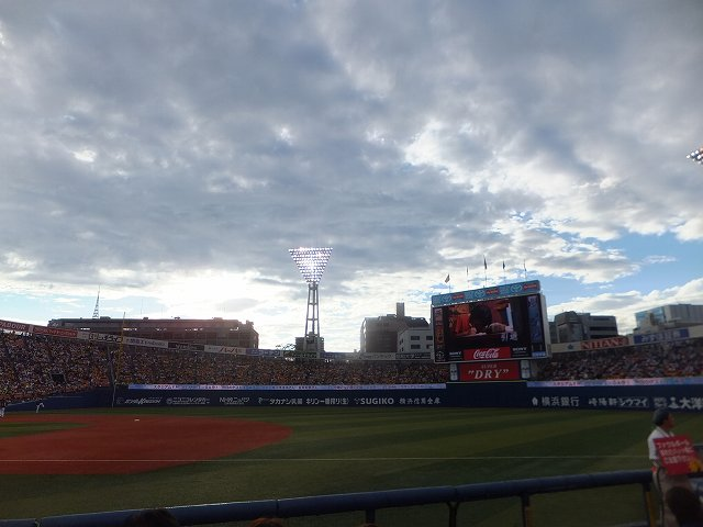 横浜スタジアム:FA席からの景色