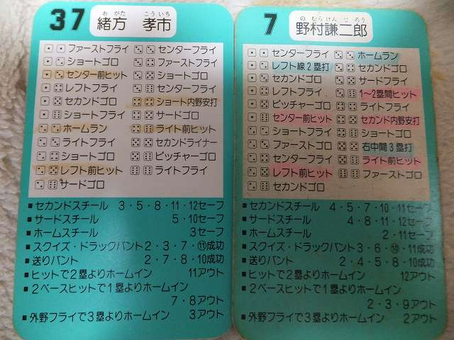 広島カープ、緒方&野村監督の数値
