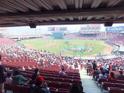 マツダスタジアム:内野席からの景色