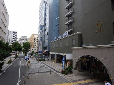 横浜スタジアム裏にある東横イン!