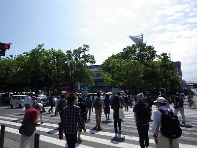 横浜スタジアム前の交差点