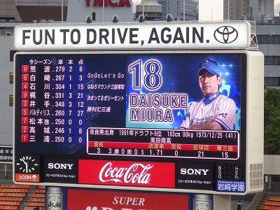 バッティングも良い:横浜DeNA三浦大輔投手
