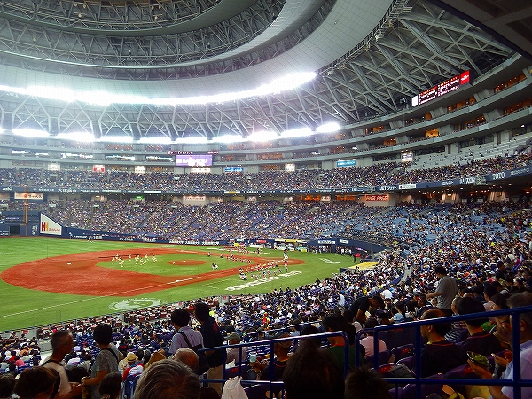 大阪ドーム内の風景、景色