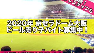 2020年京セラドーム大阪ビール売り子バイト募集中!1日短期イベントスタッフも3