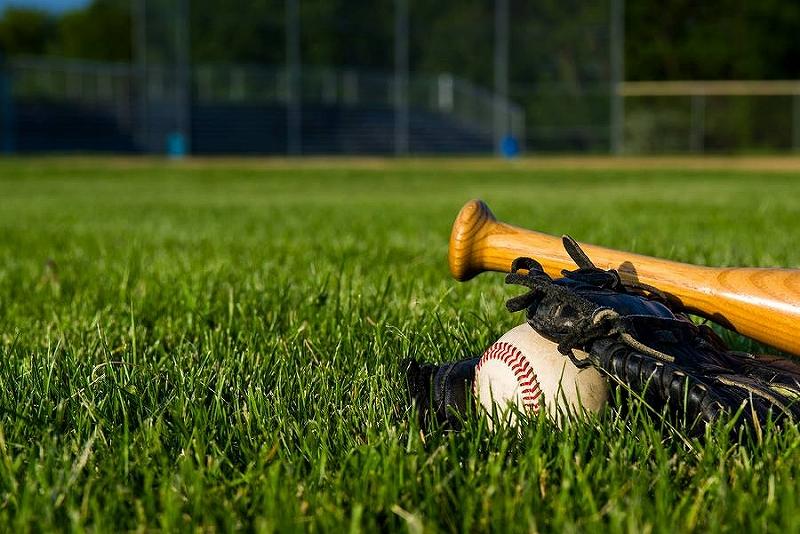 ティーバッティング:野球個人練習