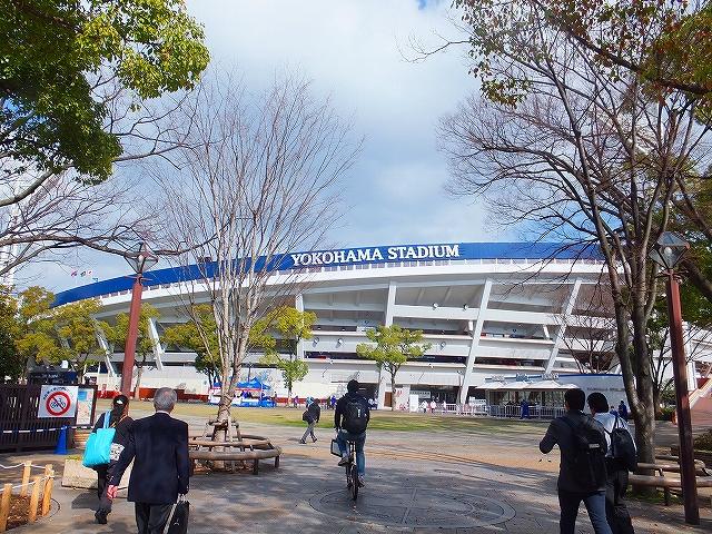 横浜スタジアムにオープン戦を観に行きました