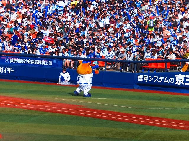 オープン戦は1人出勤:横浜DeNAマスコットスターマン