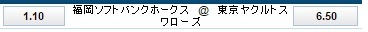 東京ヤクルト対福岡ソフトバンク