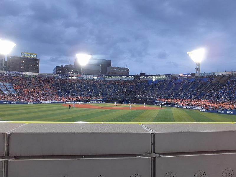 横浜スタジアム:外野訳あり席の景色