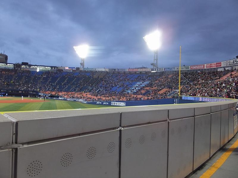 横浜スタジアム外野訳あり席の景色