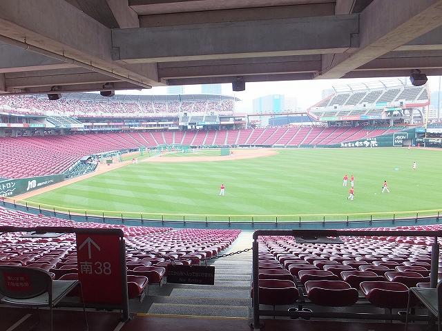 広島マツダズームズームスタジアムの様子:外野からの景色:眺め