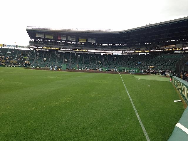 甲子園球場3塁側アルプス席からの景色:巨人阪神戦