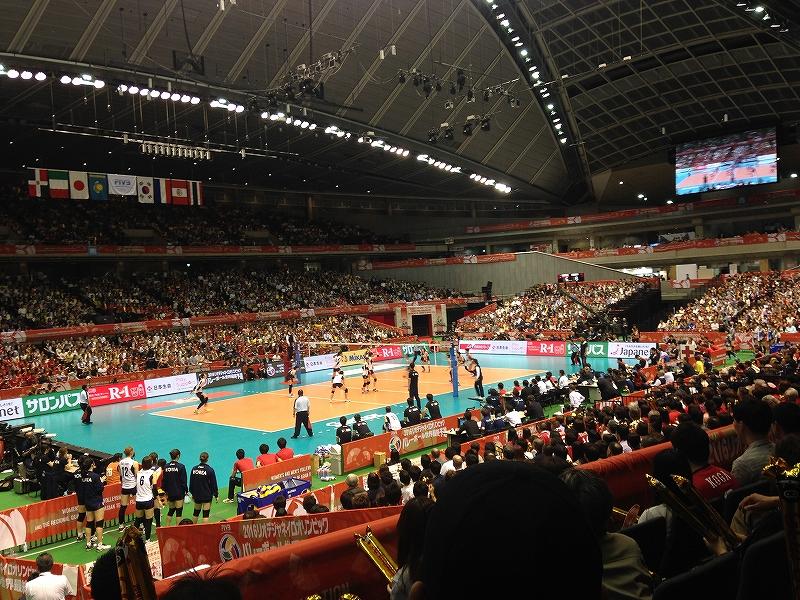 大人気!全日本バレーボール代表チームの試合