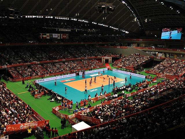 東京体育館3階自由席から観戦:バレーボール女子代表