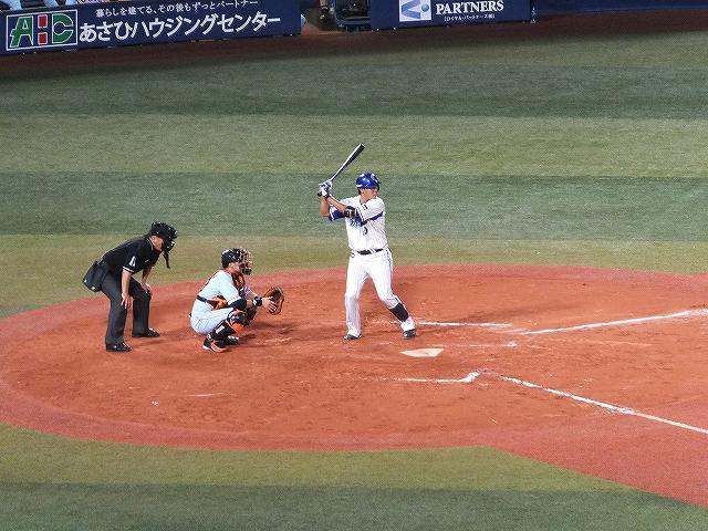 横浜DeNAベイスターズ:白根選手のバッティングフォーム