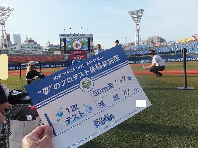 50mと遠投の結果35歳:夢のプロテスト観戦チケット