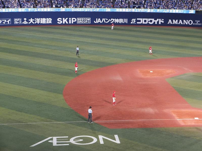 広島カープの内野陣守備体形:筒香選手の時