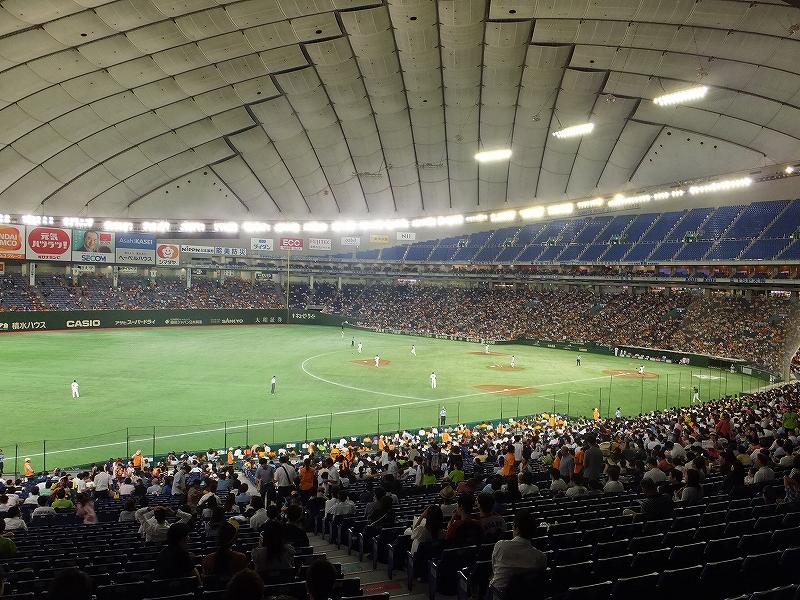 東京ドーム3塁側内野席からの景色