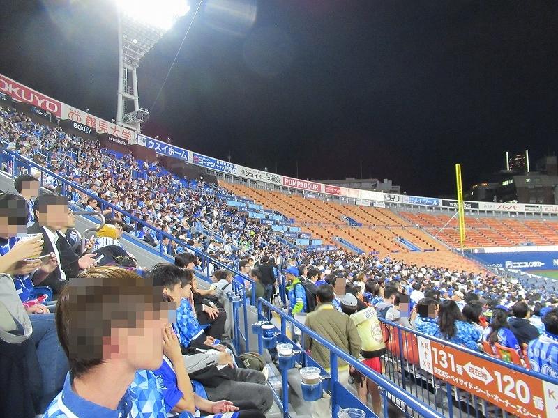 横浜スタジアムパブリックビューイング:CSファイナルステージ広島戦の雰囲気