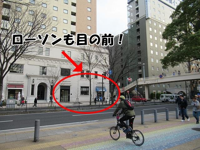 ローソンもすぐそば!横浜スタジアムの無料駐輪場は?