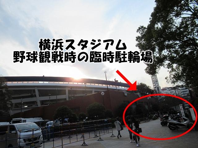 無料駐輪場の様子:横浜スタジアムの無料駐輪場は? (2)