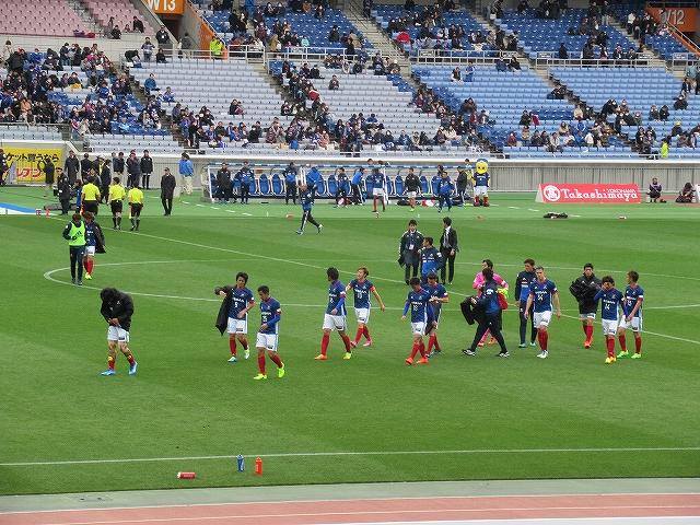 試合終了:横浜マリノス・日産スタジアム