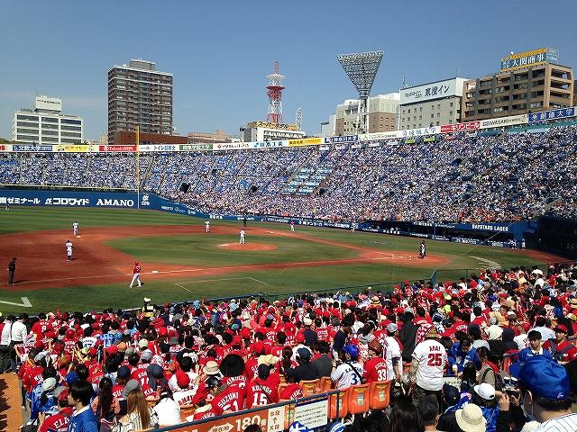 先発今永:対カープ:横浜スタジアム