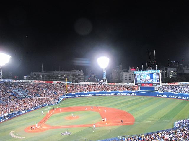 満塁のチャンス!横浜スタジアム巨人戦