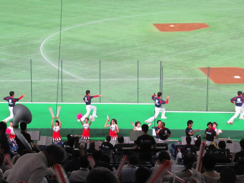 試合前の応援練習:都市対抗野球・東京ドーム