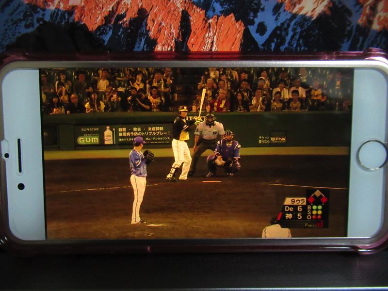 スポナビライブで横浜対阪神戦:甲子園を楽しんだ!1