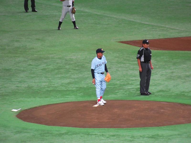 カミソリシュート平松政次さん!始球式・都市対抗野球