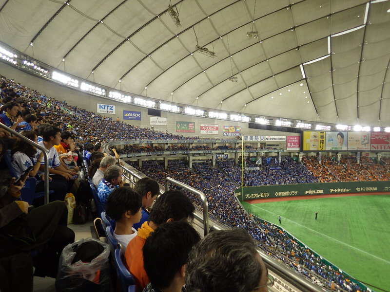 東京ドーム指定席FC前から3列目の景色