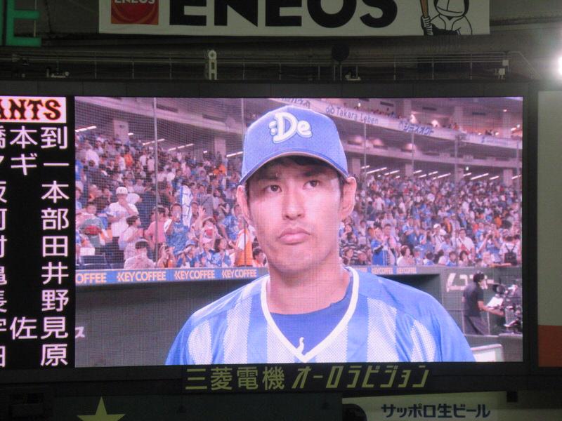 ヒーローは井納投手!東京ドーム