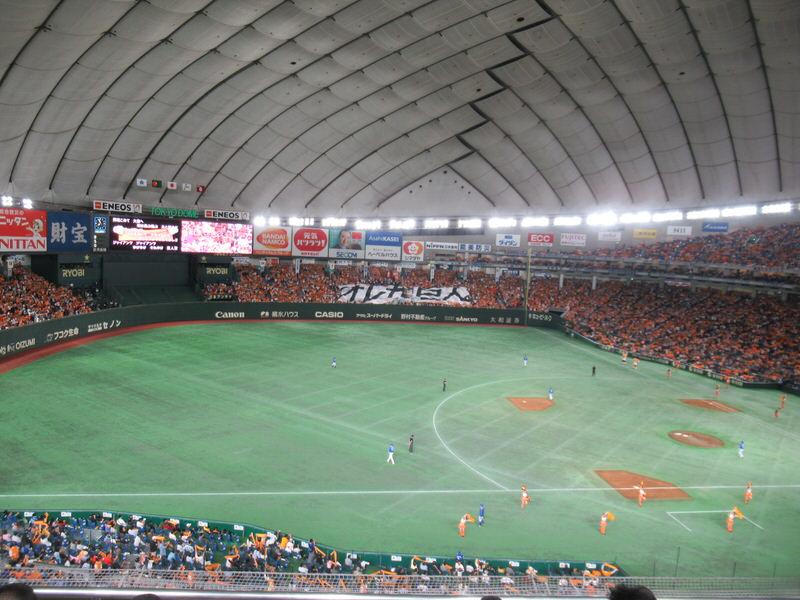 東京ドーム指定席FC2階席からの眺め
