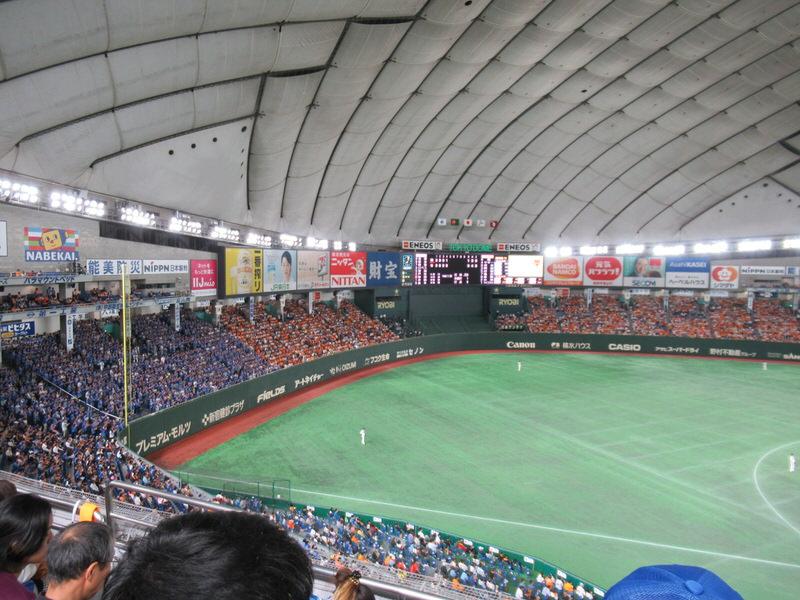 ライトスタンドのベイスターズファン:東京ドーム