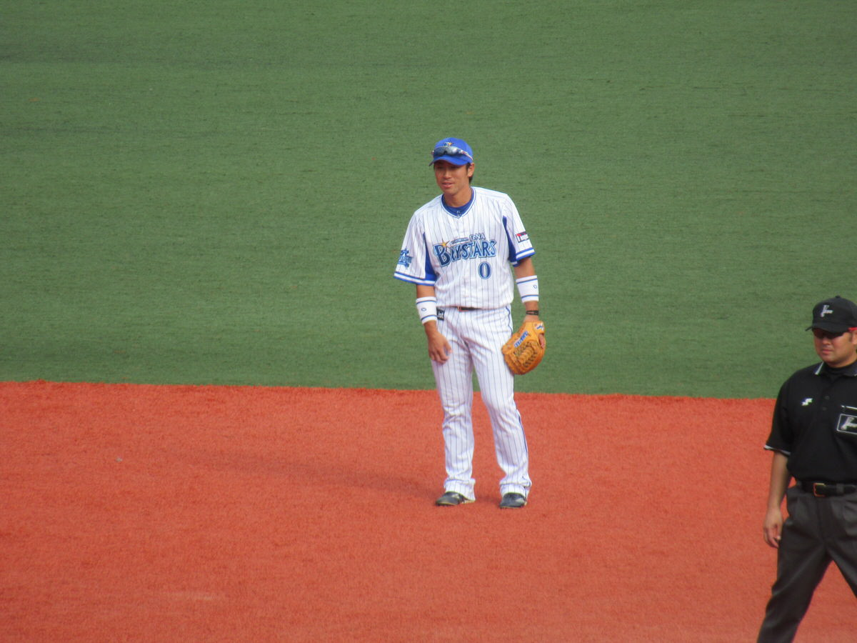 横浜DeNA山崎憲晴選手:横須賀スタジアム最終戦2017
