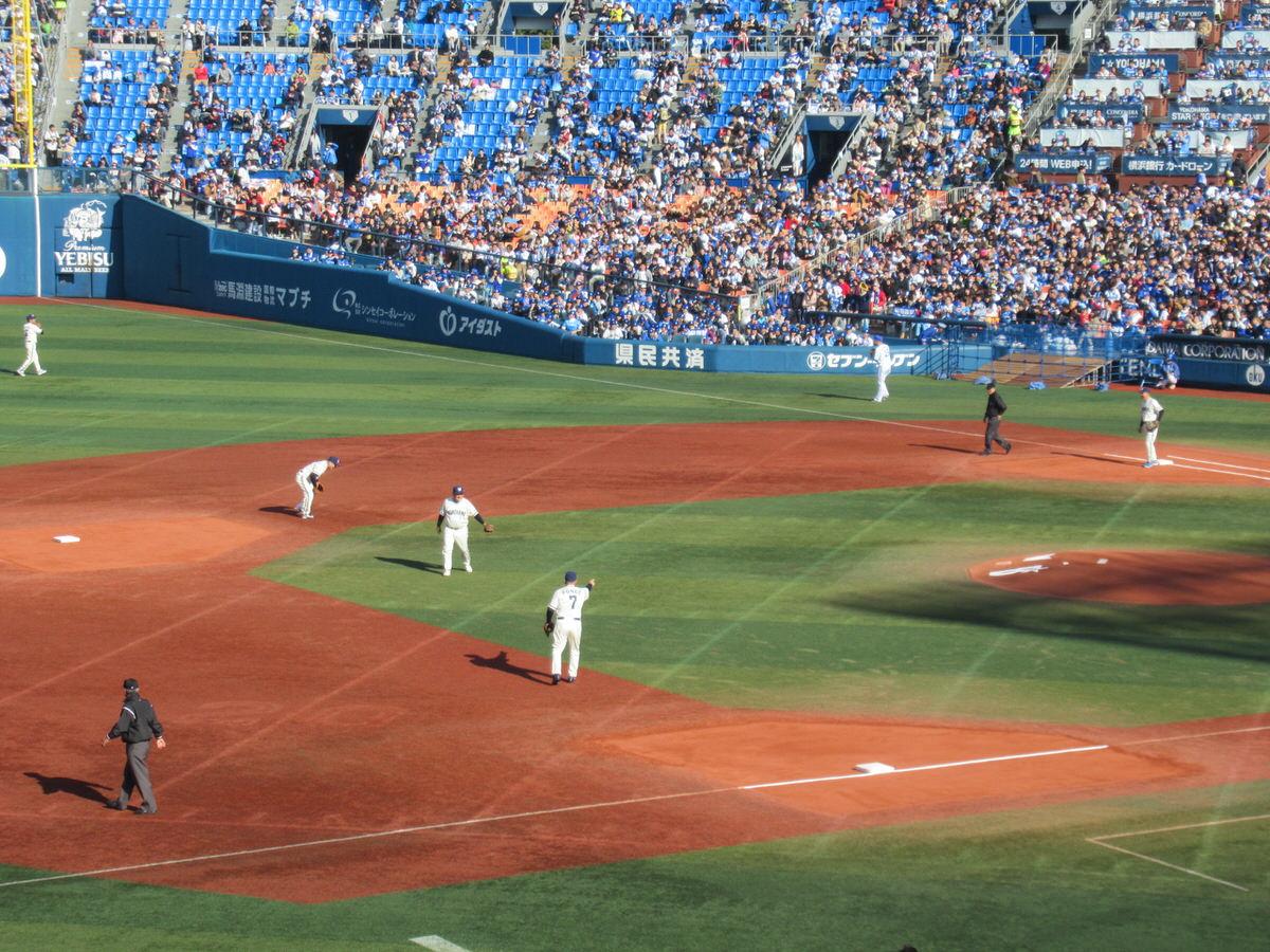 横浜大洋ホエールズの内野陣!