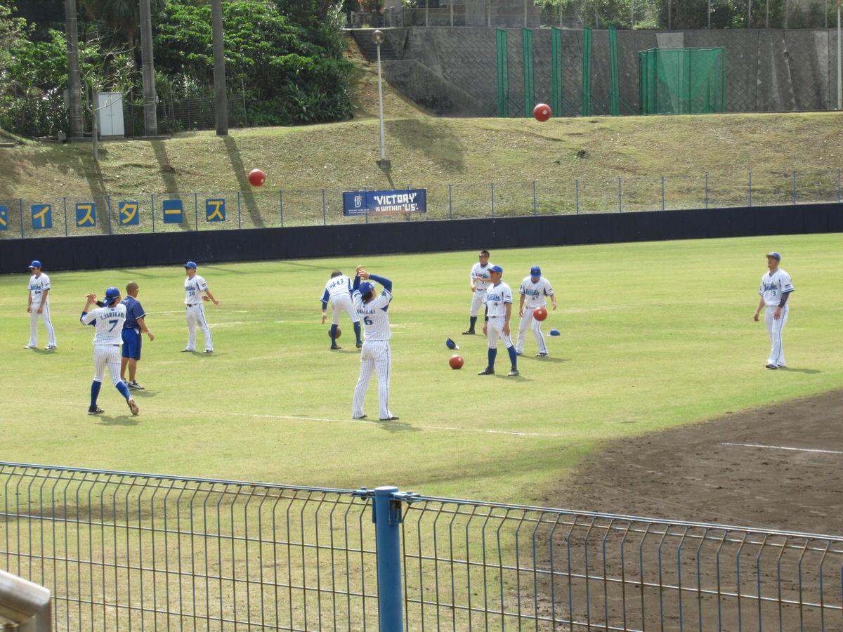 メディスンボール:横浜DeNAベイスターズ2軍:嘉手納キャンプ