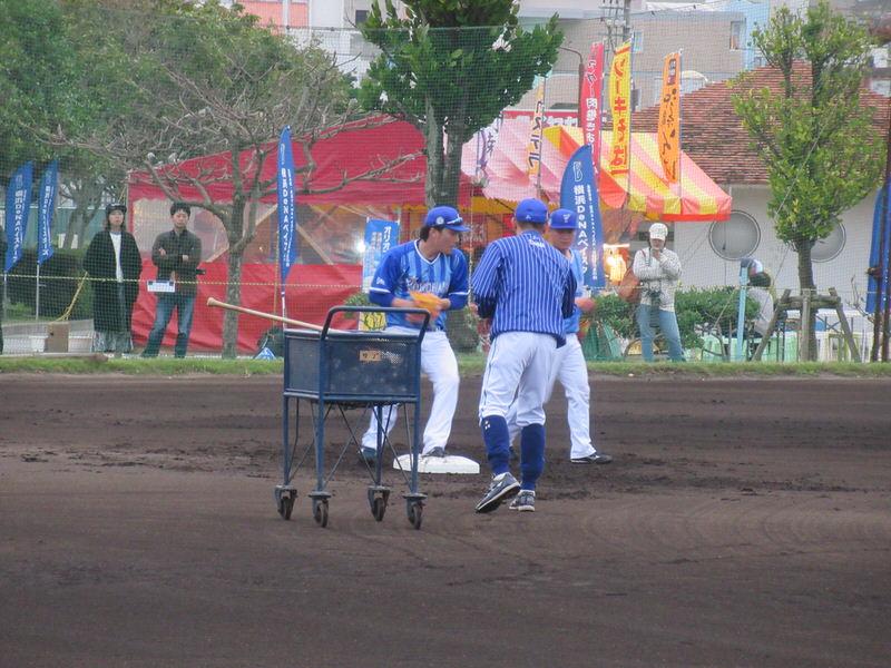 ゲッツー送球練習:柴田倉本:横浜DeNAベイスターズ宜野湾キャンプ