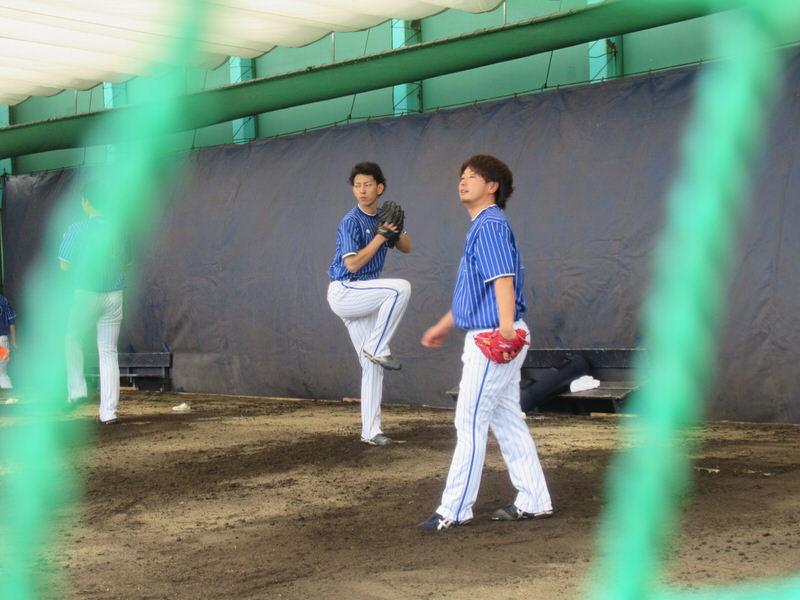 田中健二朗・三嶋:2018年横浜DeNAベイスターズ沖縄宜野湾キャンプ