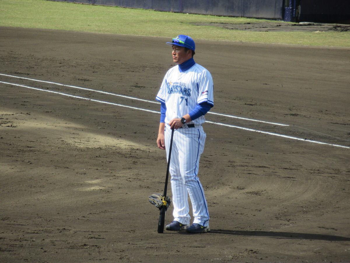 小池コーチ:横浜DeNAベイスターズ2軍:嘉手納キャンプ