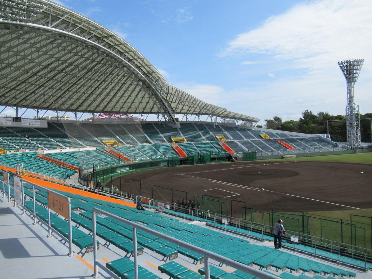 内野もとってもきれい!沖縄セルラースタジアム巨人春季キャンプ