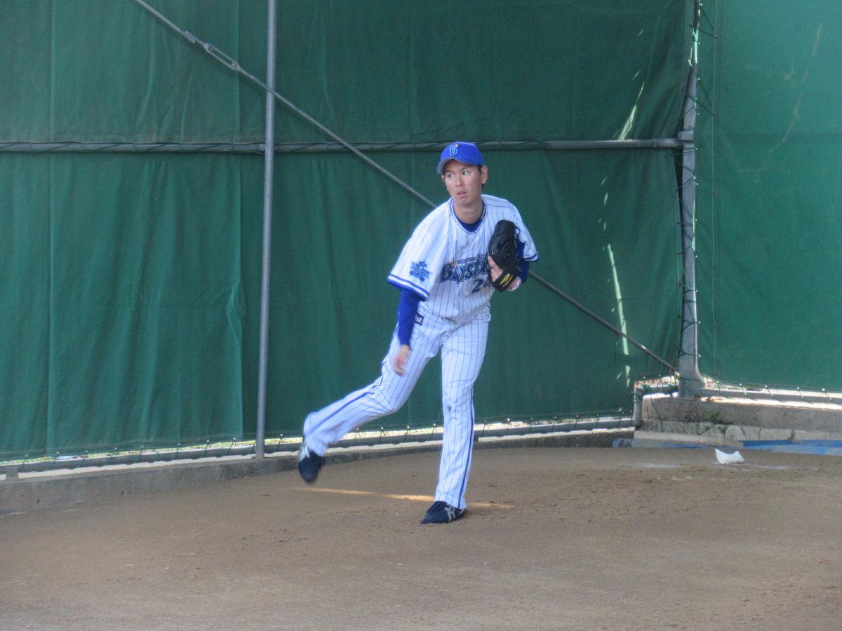 須田幸太:横浜DeNAベイスターズ2軍:嘉手納キャンプ