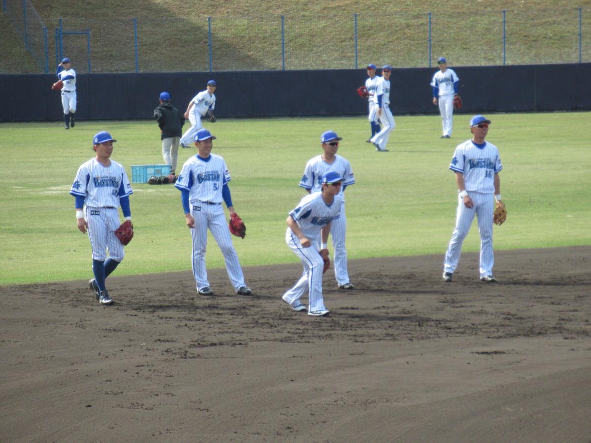 ショートのノック・横浜DeNAベイスターズ2軍:嘉手納キャンプ
