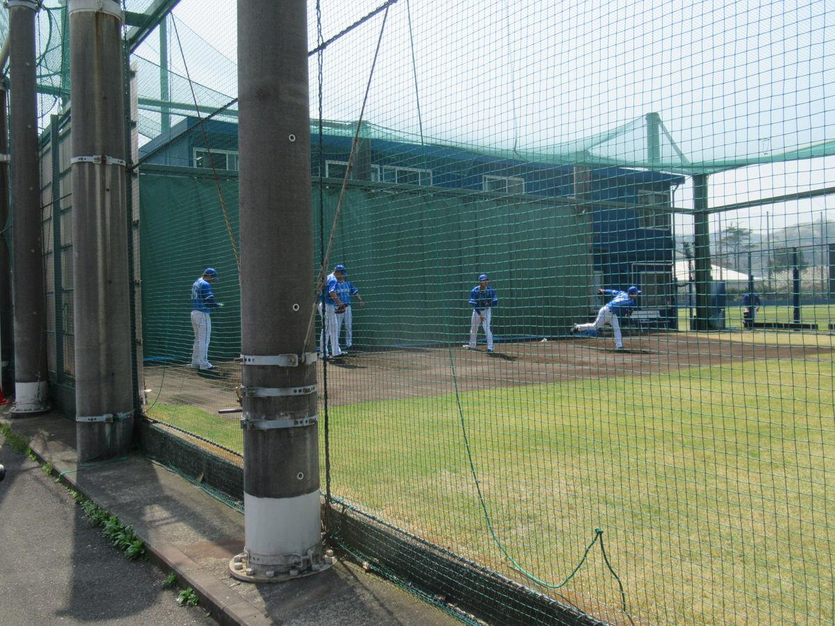 横浜DeNA長浦練習場のブルペン