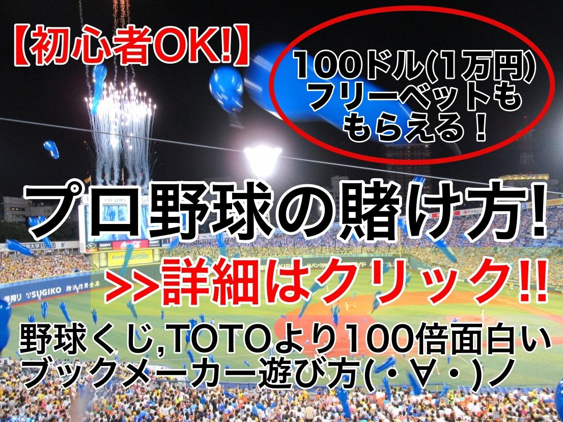 リンク【初心者OK!】プロ野球賭け方!