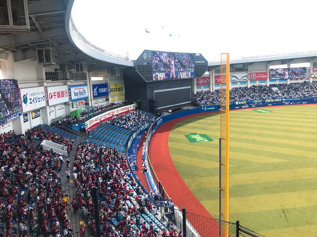ZOZOマリンスタジアム・内野自由席(2階)からの景色・眺め・レフト側1