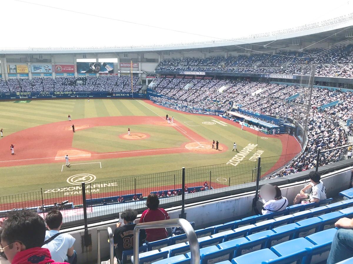 ZOZOマリンスタジアム・内野自由席(2階)からの景色・眺め3